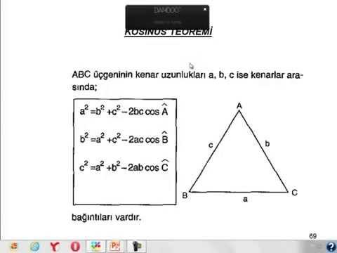 Kosinüs teoremi konu anlatımı ve şekilli soru çözümleri