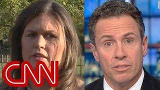 Chris Cuomo takes on Sarah Sanders over bomb response