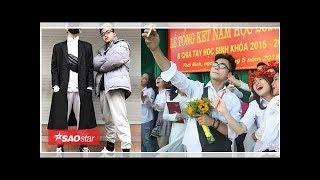 Em trai Sơn Tùng M- TP chạy khắp sân trường ôm bạn học trong lễ bế giảng: 'Mình có thể ôm cậu lần...