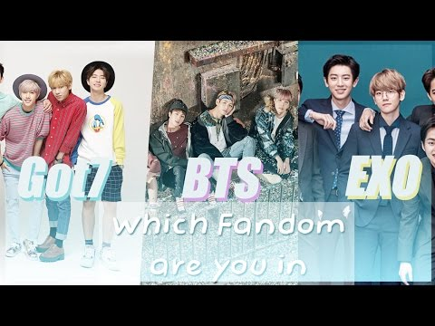KPOP QUIZ | What fandom are you in? BTS,GOT7 OR EXO?