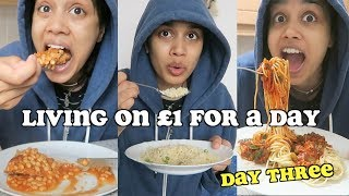 living on £1 a day for a week - DAY THREE   clickfortaz