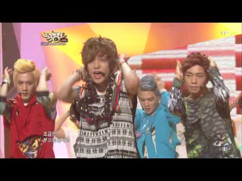 [뮤뱅] 틴탑 - 나랑 사귈래 20120810