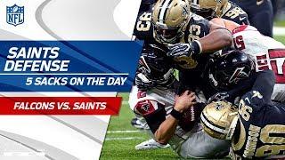 New Orleans Defense Shuts Down Atlanta w/ 5 Sacks!   Falcons vs. Saints   Wk 16 Player Highlights
