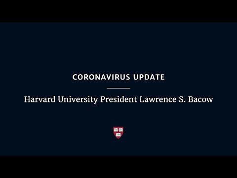Coronavirus Update: Harvard University President Lawrence S. Bacow