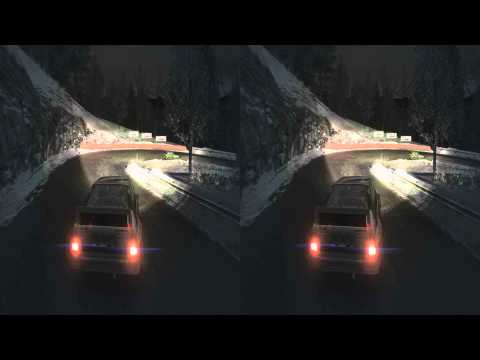 (3D & 4K) Dirt 3 3840x2160 Monte Carlo @ Night (Ultra HD) Oculus Rift