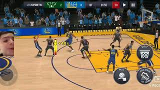 NBA Live Mobile (first time screen recording+face cam