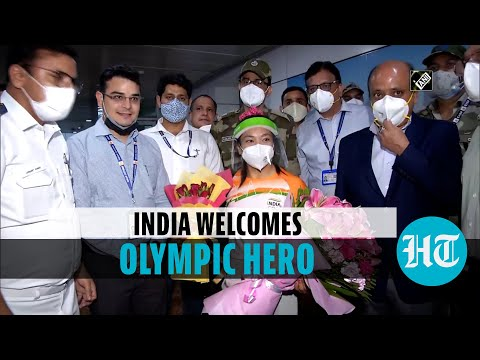 Watch: Mirabai Chanu gets hero's welcome after Silver medal win at Tokyo Olympics
