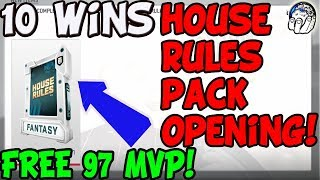 10 HOUSE RULES FREE 97 MVP PACK OPENING! SCOUTS PACK OPENING! Madden NFL 19 Pack Opening