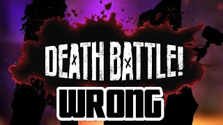 DEATH BATTLE! Episodes that are wrong (by their own logic)