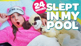 24 HOUR CHALLENGE OVERNIGHT IN MY POOL (FUNNY) | Piper Rockelle