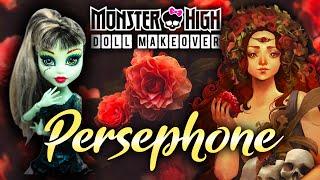 Making PERSEPHONE  DOLL / GODDESS OF SPRING / Monster High Doll Repaint by Poppen Atelier