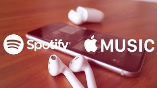 Comparo Apple Music y Spotify