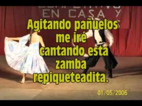 Agitando pañuelos - zamba - karaoke