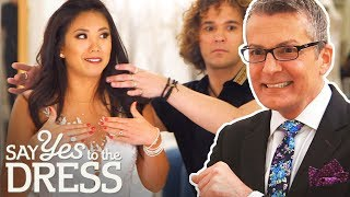 Bride Wants A Dress That Makes Her Chest Look Flat | Say Yes To The Dress America