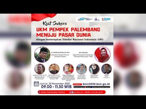 https://youtu.be/cTp4O5SRRv8Kiat Sukses UKM Pempek Palembang Menuju Pasar Dunia dengan Menerapkan SNI