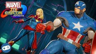 MARVEL VS CAPCOM INFINITE Captain Marvel and Captain America Gameplay