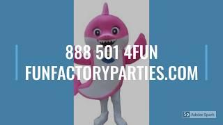 Rent Baby Shark Adult Sizes Mascot Costumes! 888 501 4FUN https://funfactoryparties.com/