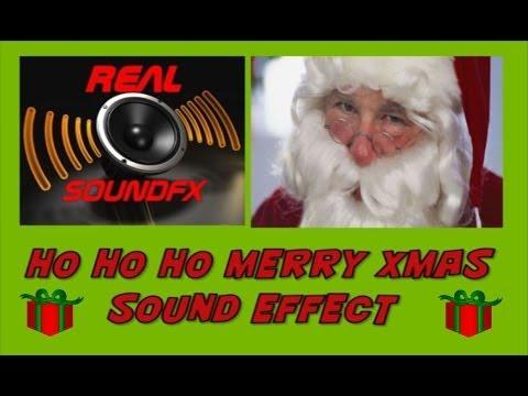 HO HO HO merry christmas SANTA CLAUS sound effect #2 - realsoundFX