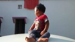 Baby boy dance on car roof cham cham song