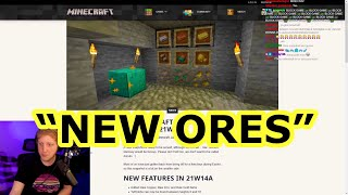 PHILZA Explains the NEW MINECRAFT SNAPSHOT *NEW ORE FORMS* Snapshop 21w14a *Raw Ores*