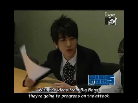 Part 1/3 - Big Bang - MTV School Attack (Oct. 3, 2007) [English Subbed]