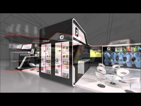 Exhibition Stand Design - Acushnet Fly through