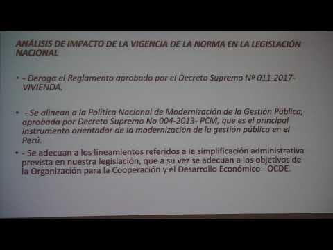 FORO - TALLER Análisis del D.S N°029-2019 VIVIENDA