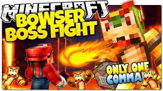 Minecraft | BOWSER BOSS BATTLE! | Epic New Armor | Only One Command (One Command Creation)