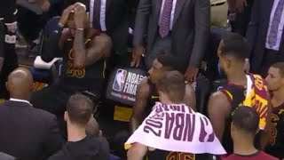 New UNSEEN LeBron, JR Smith REACTION From Bench After Game 1 Dumb Mistake
