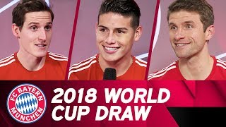 Müller, Rudy & James Rodríguez | Reactions to the World Cup Draw 🏆
