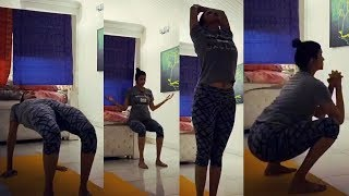 Manchu Lakshmi latest Yoga workout video..