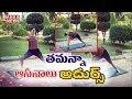 Tamanna fitness Yoga photos hulchul in social media
