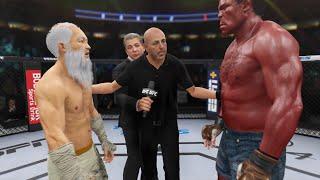 Old Bruce Lee vs. Fire Hulk - EA Sports UFC 4 - Epic Fight 🔥🐉