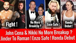 Jinder Message To Reigns ! John Cena No Breakup ? Enzo Amore Safe ! Ronda Rousey Live Event Debut !
