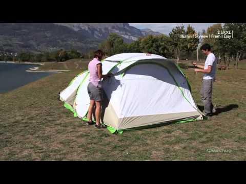 Quechua tenda campeggio 2 seconds xxl illumin fresh for Living room quechua