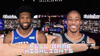 PHILADELPHIA 76ERS vs SAN ANTONIO SPURS | Full Game Highlights | 2020 NBA Season Restart