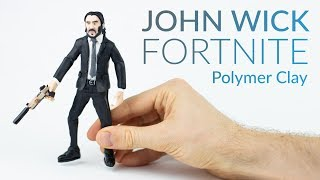 John Wick (Fortnite Battle Royale)– Polymer Clay Tutorial