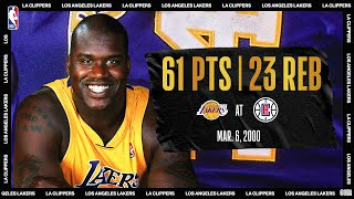 Shaq Scores Career-High 61 On His 28th Birthday   #NBATogetherLive Classic Game