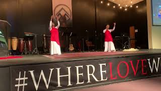 "Tribal Worship Youth Dancers dancing to Tasha Cobbs' ""Your Spirit"" (21 Apr 19)"