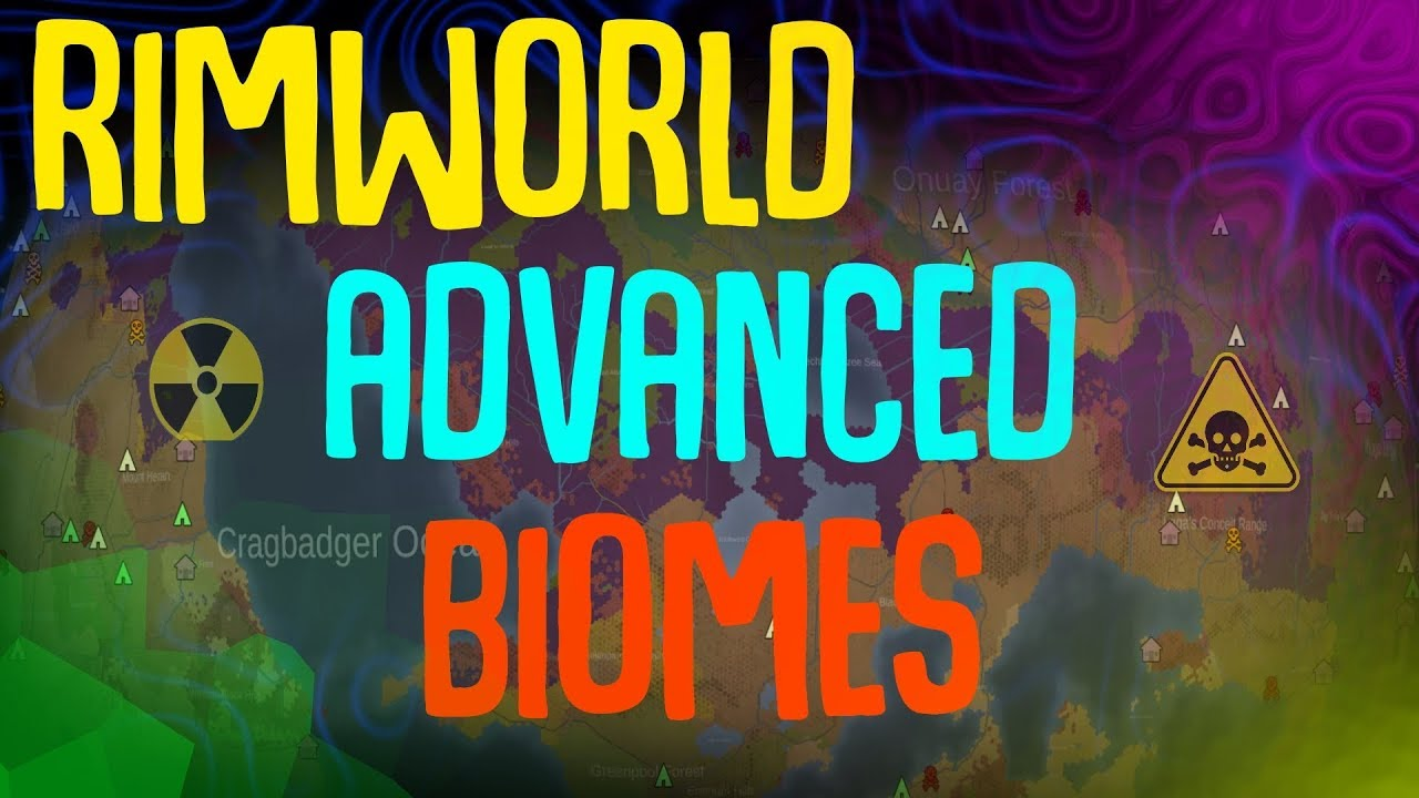 Advanced Biomes! Rimworld Mod Showcase  Nuclear Wasteland, Poison Forest,  Wetlands, Savannas