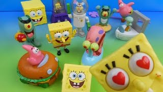 2004 SPONGEBOB SQUAREPANTS THE MOVIE SET OF 12 BURGER KING KID'S MEAL TOY'S VIDEO REVIEW