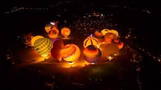 熱氣球嘉年華夜晚芳華