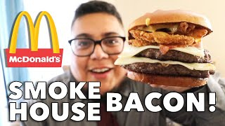 Does McDonald's Double Bacon Smokehouse Burger have enough smoke? - Food Review - Full Nelson Eats
