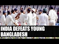 India defeats Bangladesh by 208 runs, wins one off test match