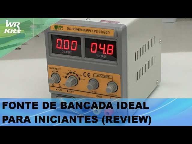 FONTE DE BANCADA IDEAL PARA INICIANTES (REVIEW)