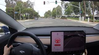 Tesla Autopilot Stop Light Warning vs Wifey Stop Light Warning
