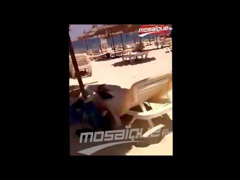 شاهد.. لحظة إطلاق النار في الهجوم الدامي بمدينة سوسة في تونس