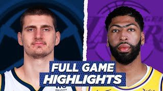 NUGGETS vs LAKERS FULL GAME HIGHLIGHTS | 2021 NBA SEASON