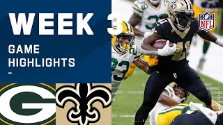 Packers vs. Saints Week 3 Highlights   NFL 2020