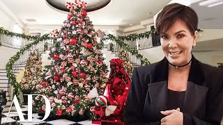 Kris Jenner Has a LOT of Christmas Decorations For The Kardashians Home | Architectural Digest